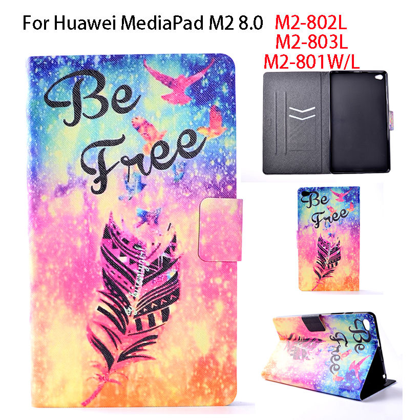 Case For Huawei M2 8.0 PU Leather Cover For Huawei MediaPad M2 8.0 M2-801W M2-802L M2-803L 801L Tablet Funda Pantied Stand Shell white gold full lcd display touch screen digitizer assembly for huawei mediapad m2 8 0 m2 801l m2 802l m2 803l free shipping