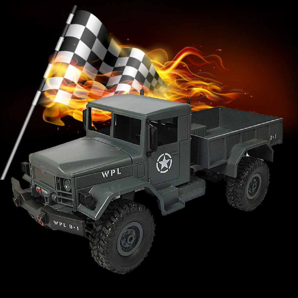 WPLB-14 2.4G Military Off Road Remote Control Racing Car Truck Tractor hsp rc car 1 10 electric power remote control car 94601pro 4wd off road short course truck rtr similar redcat himoto racing