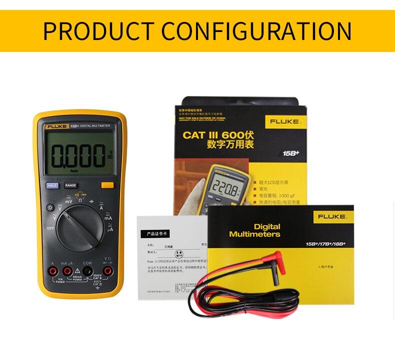Multímetro Digital con rango automático de 4000 cuentas medidor de resistencia de Corriente CA/CC medidor de capacitancia probador de frecuencia - 5