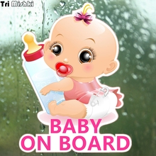 Tri Mishki WCS092 13*17cm baby on board car sticker funny colorful car stickers baby in car auto automobile decals цена