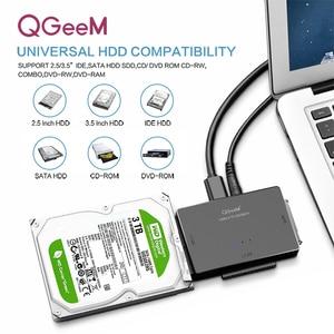 Image 5 - QGEEM SATA to USB 3.0 IDE Adapter USB2.0 Sata Cable for 2.5 3.5 SATA IDE Hard Disk Drive Adapter USB C OTG HDD SSD USB Convert