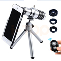 2017 Camera Lentes Kit 12x Zoom Telescope Telephoto Lens Macro Wide Angle Fisheye lenses For iPhone 6 6s 7 Plus 5 5s 4 s Samsung
