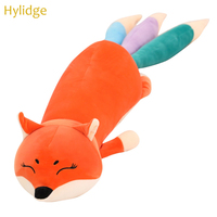 Hylidge Cute Fox Children Kids Plush Toy with Colorful Tail Soft Pillow Newborn Baby Sleeping Toy Girl Gift Doll Toys