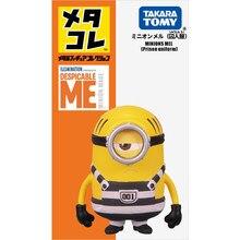 Takara tomy metakore minions mel prisão uniforme 4cm altura metal coleção figura nova