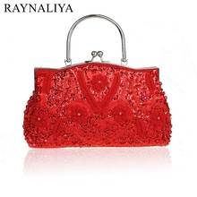 Women Clutch Bags Beads Evening Exquisite Ladies Beaded Embroidered Wedding Party Bridal Handbag Wristlet Small SFX-A0046 недорого