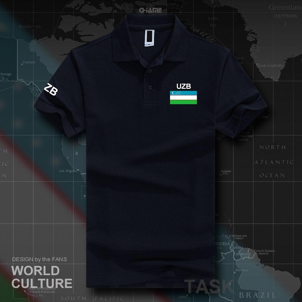 Uzbekistan Uzbekistani   polo   shirts men short sleeve white brands printed for country 2017 cotton nation team UZB O'zbekiston