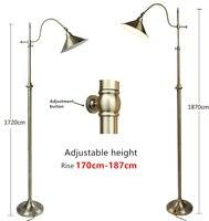 北欧レトロランプ創造銅フロアランプ調節可能な高さ 172-187 センチ装飾創造フロアランプ