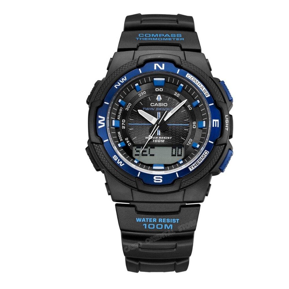 CASIO Часы Элитный Бренд Дата Для Мужчинs Повседневное Relogio masculino Компасы SGW-500H-1B Компасы мировое время
