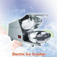 Elétrica Triturador de Gelo máquina de Esmagamento Da Máquina de Gelo Neve Cone Maker 300 W com Alça e Bacia