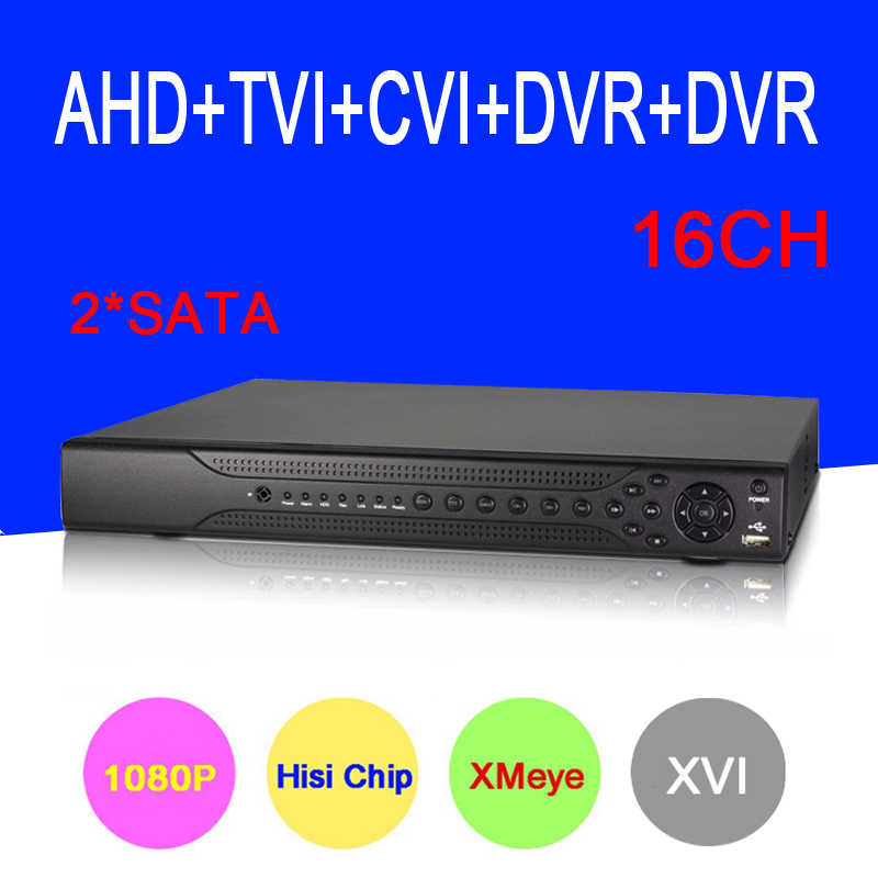Hisiclion Sensor Dahua Exterior 16 Channel 16CH Two SATA Five in One Coaxial Hybrid 1080P HD CVI TVI AHD DVR NVR Free Shipping