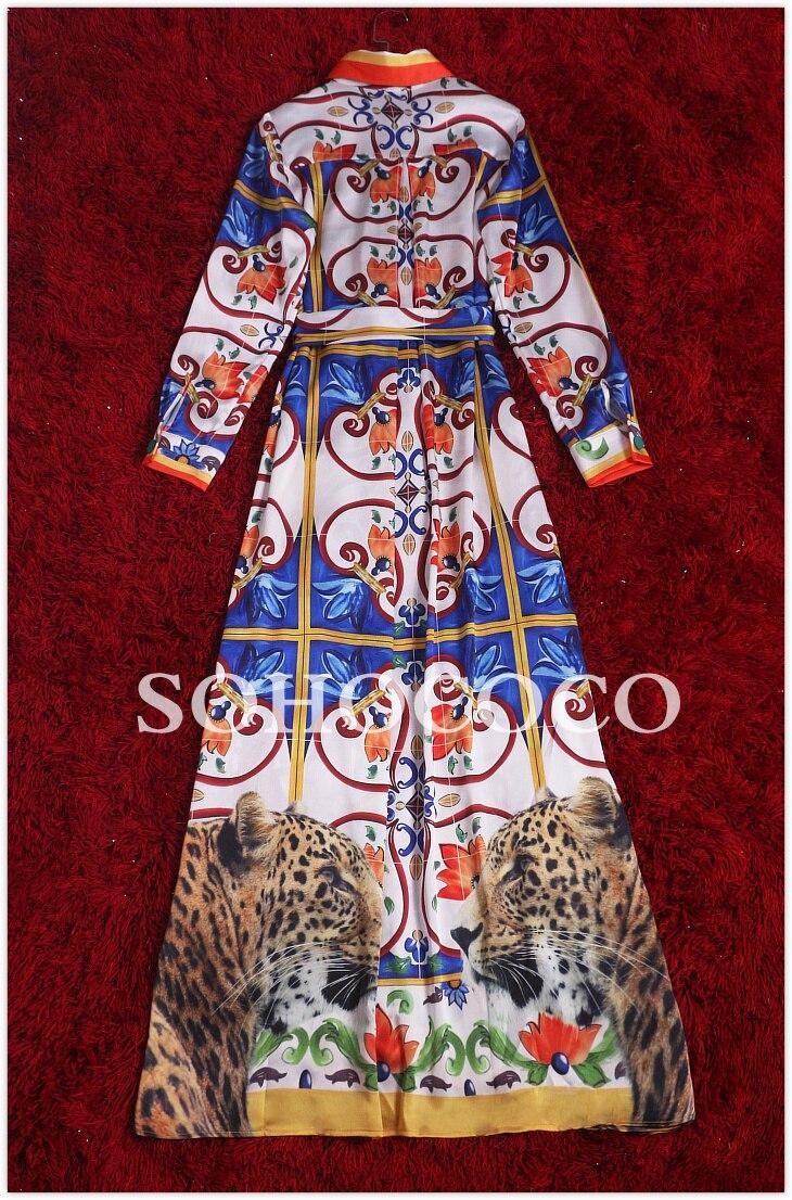 herbst lange g s xxxl size Plus dress gerade reich frauen print vintage wXklOPZTui