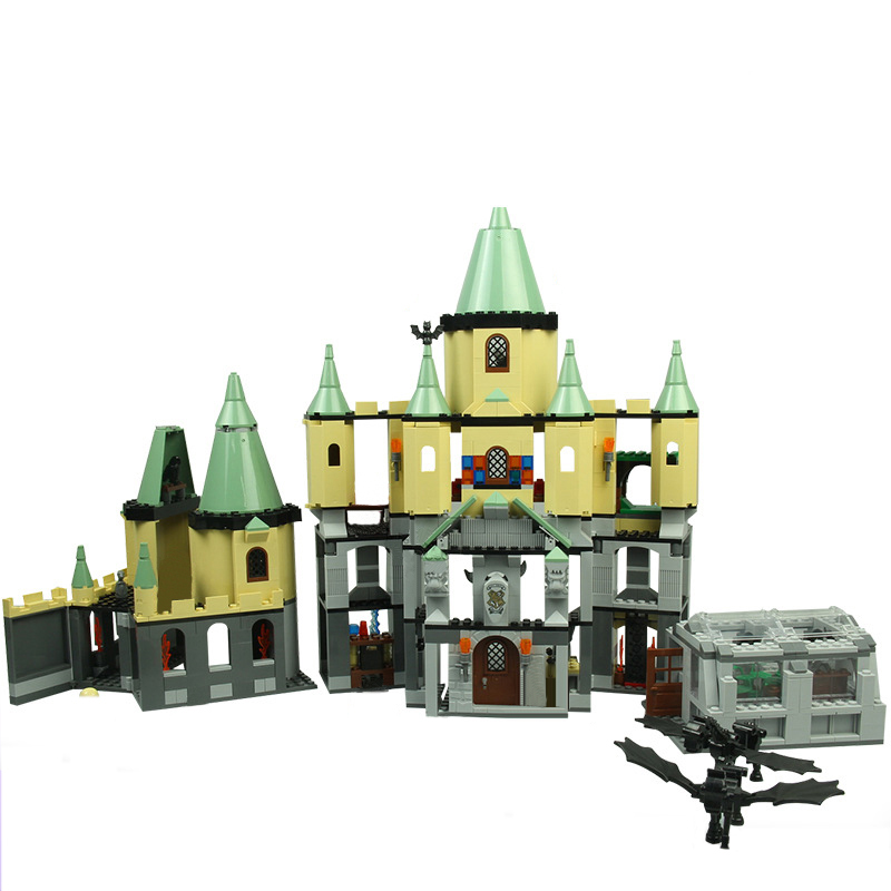 Lepin 16029 Movie Series The Magic Hogwort Castle Model Building Blocks Bricks Educational Toys For Children 5378 Legoingse Toys bevle store lepin 07045 501pcs with original box movie series robin chariot building blocks bricks for children toys 70905