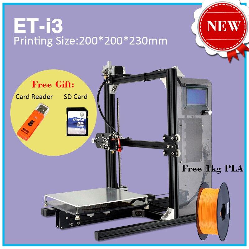 2017 New Release 3D Printer Top Version Video Assembling Guide DIY Kit ET I3 Auto Leveling