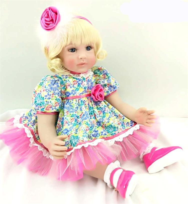 60cm Silicone Reborn Baby Doll Toys 24inch Princess Toddler bebe baby toddler collectible doll Brinquedos play house toys girl60cm Silicone Reborn Baby Doll Toys 24inch Princess Toddler bebe baby toddler collectible doll Brinquedos play house toys girl