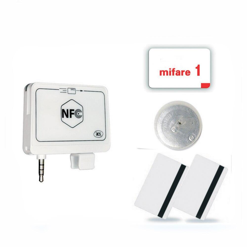 ACR35 NFC lecteur de carte mobile untuk ponsel algoritma dan DUKPT kunci système + SDK anglais