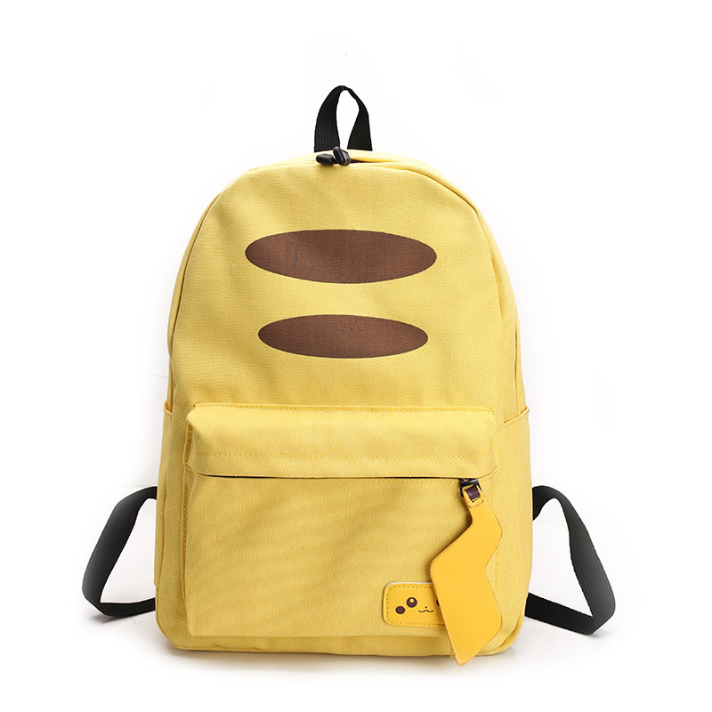 все цены на 2017 New Japanese Anime Pocket Monster Pokemon Pikachu Printing Backpack Canvas School Bags Laptop Backpack Mochila Feminina