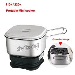 350 w podwójny napięcie przenośne Mini kuchenka pokoju wieloosobowym gotowane makaron gotowane owsianka ryżu urządzenie do gotowania garnek elektryczny 110 V/220 v