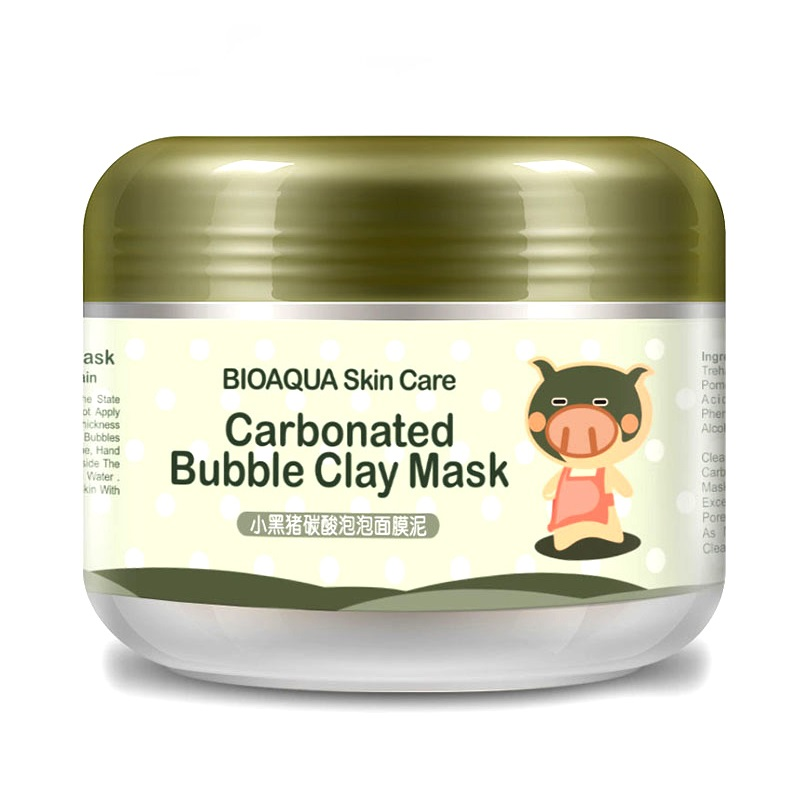 Hot Black Mask Milky Piggy Carbonated Bubble Clay Mask 100g Remove Blackhead Acne Purifying Pores Face Care Facial Sleeping Mask