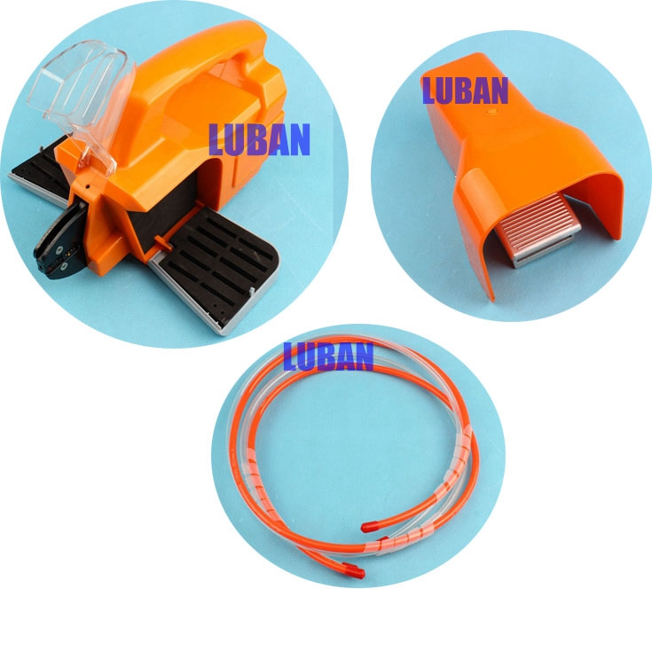 LUBAN AM-30 New air crimping machine pneumatic crimping tool for cable terminals connectors with 1 die sets replacement of AM-10 pneumatic crimping tools plier with 15 sets of dies