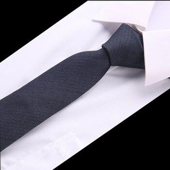 Jednolity Kolor Krawat Mężczyzna Koreańska Wersja 6 cm Małe Wąska Wersja Formalne Firm Wedding Krawaty Czerwony, Niebieski, Czarny srebrny Krawat
