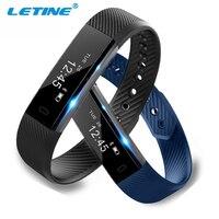LETINE ID115 Smart Sport Bracelet Fitness Watch Activity Tracker Sleep Monitor Wristband Men Alarm Clock Smartband