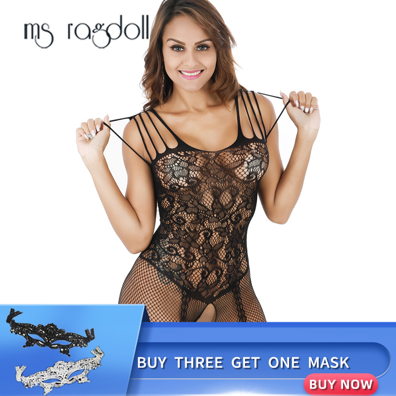 Ms Ragdoll Women Open Crotch Babydoll Sexy Lingerie Erotic Wear Hot Porn Adult Sex Clothes Sexy Costumes Erotica Body Stocking