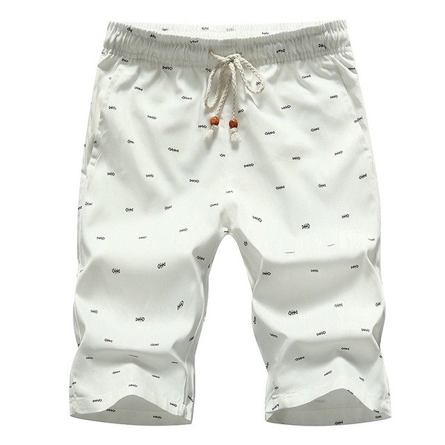 Oeak Men's Beach Shorts 2019 New Fashion Summer Casual Printing Lace Up Waist Cotton Breathable Soft Loose Short Pants