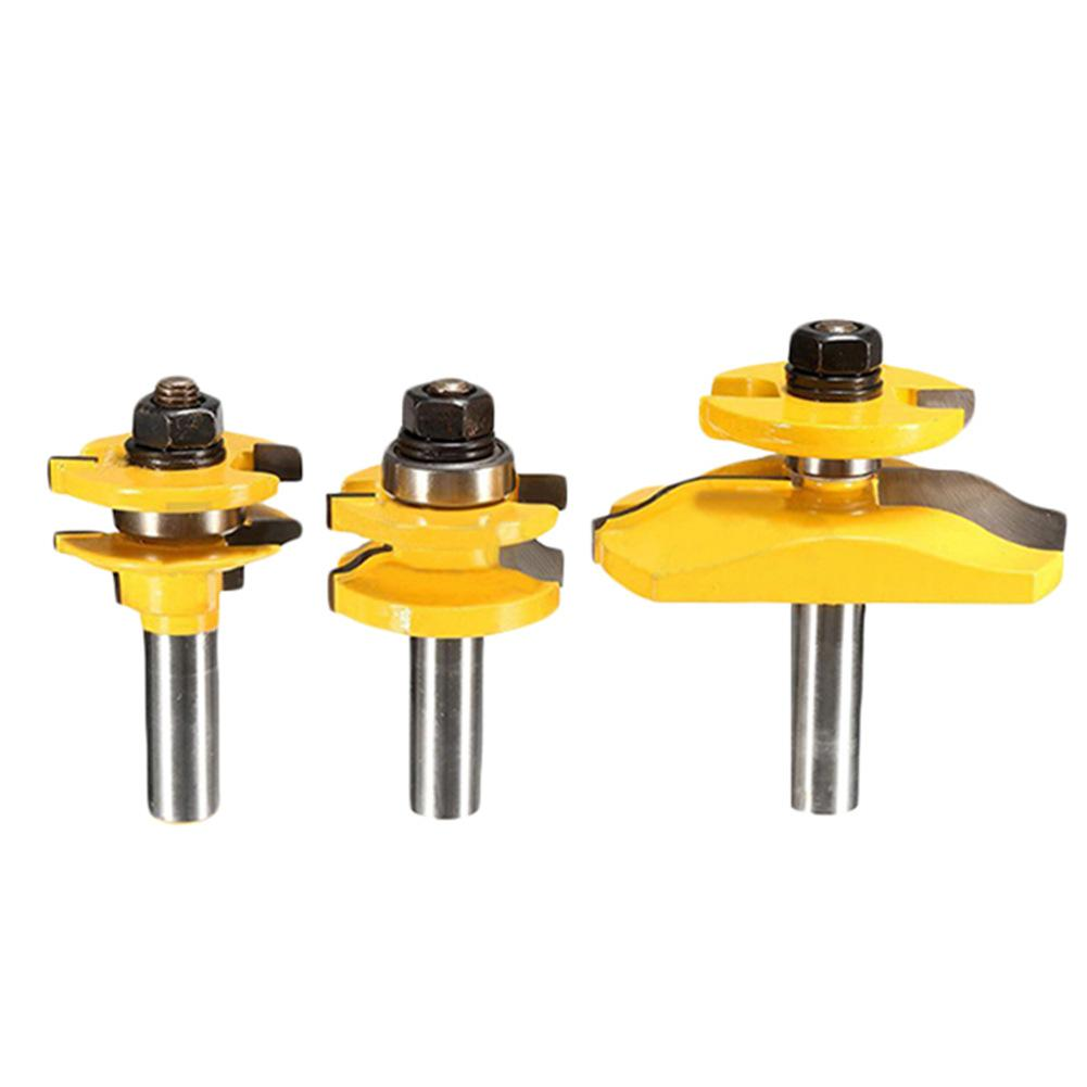 3Pcs 1/2 Shank Woodworking Cutter Engraving Machines Panel Cabinet Kitchen Router Bits Set Nail Polishing Milling Cutter unich 600 900 mm engraving and milling machines