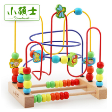 Bead Math Toy Child Beads Wooden Toys Educational Abacus Beads Maze