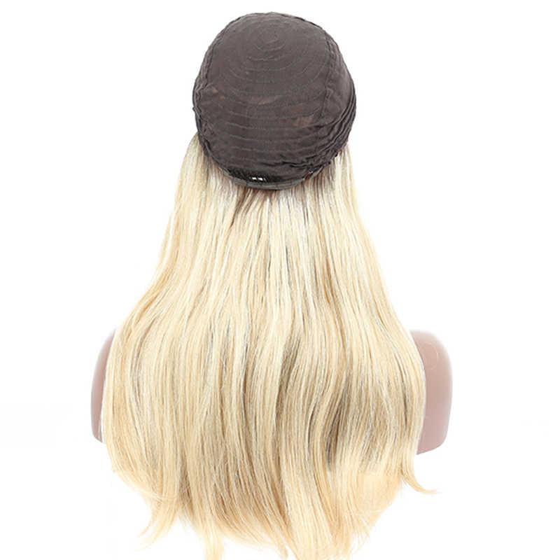 613 Bal Sarışın Dantel Ön İnsan Saç Peruk At Kuyruğu Spor Dalgalı Özelleştirmek Yahudi Koşer Peruk Avrupa Bakire Dolago Saç