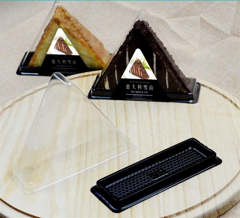 50 Satz Halten Italien Schnee Kuchen Klaren Kunststoff Dreieck Bäckerei Pack Cookies Pastry Box Brot Toast Backen Verpackung Von Der Konsumierenden öFfentlichkeit Hoch Gelobt Und GeschäTzt Zu Werden