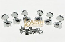 KAISH Chrome Straight Fixing Tag Guitar Tuners Tuning Keys for Acoustic or LP