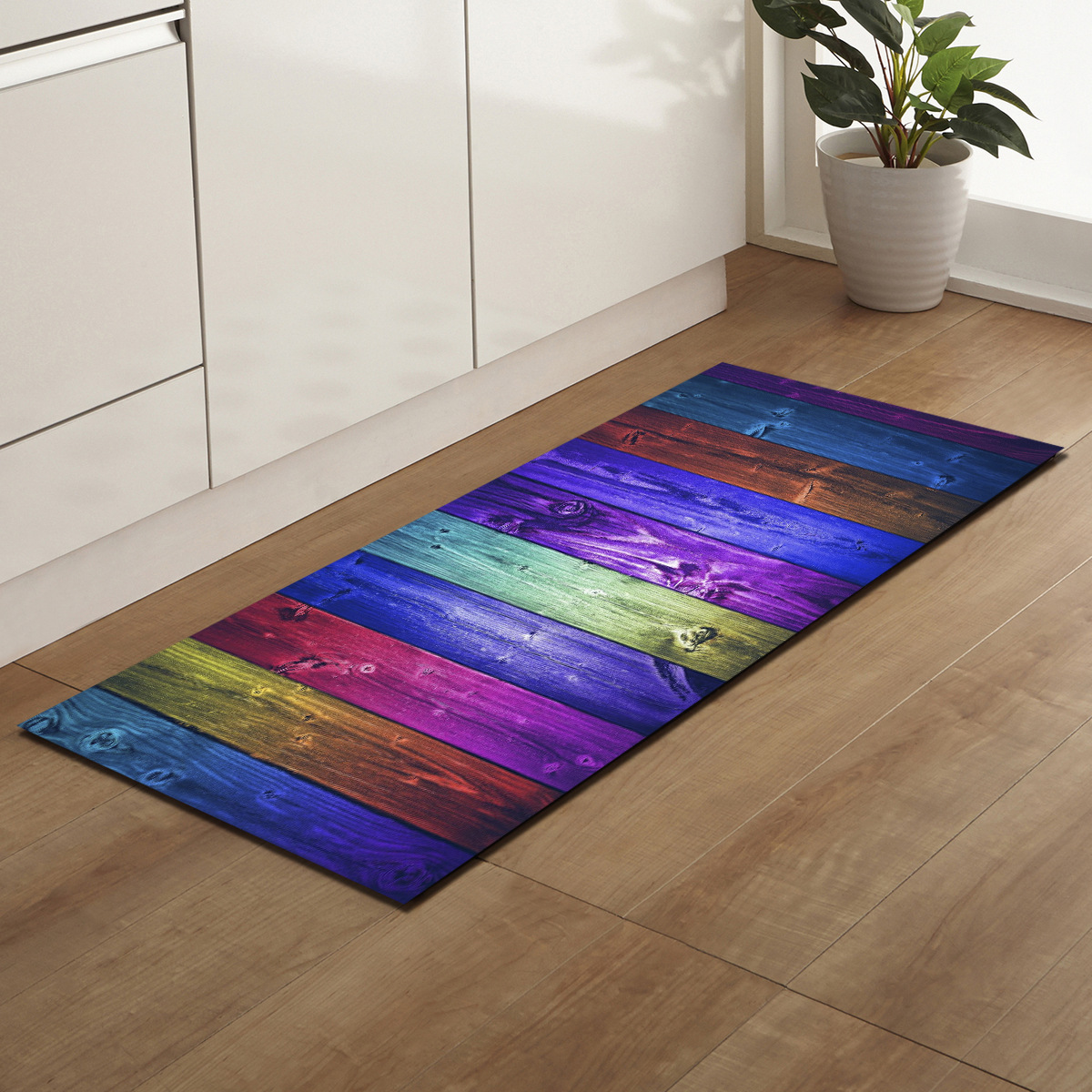 Us 9 78 33 Off Zeegle Wood Pattern Rectangle Corridor Mats Welcome Door Mat Living Room Rugs Anti Slip Kitchen Floor Mats Bedroom Bedside Mats In