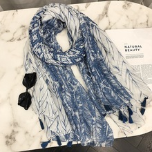 MARC 2019 NEW Sunshade scarf Tassel cotton Geometric summer Print sunscreen Women Patchwork beach towel shawl oversized