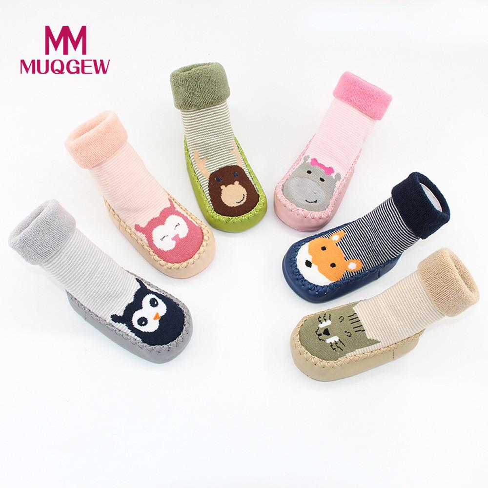 MUQGEW Newborn 2018 Baby Boys Girls Cartoon Animal  Floor Socks Anti-Slip Baby Step Socks Anti-skid child toddler footwear Floor защитный детский шлем