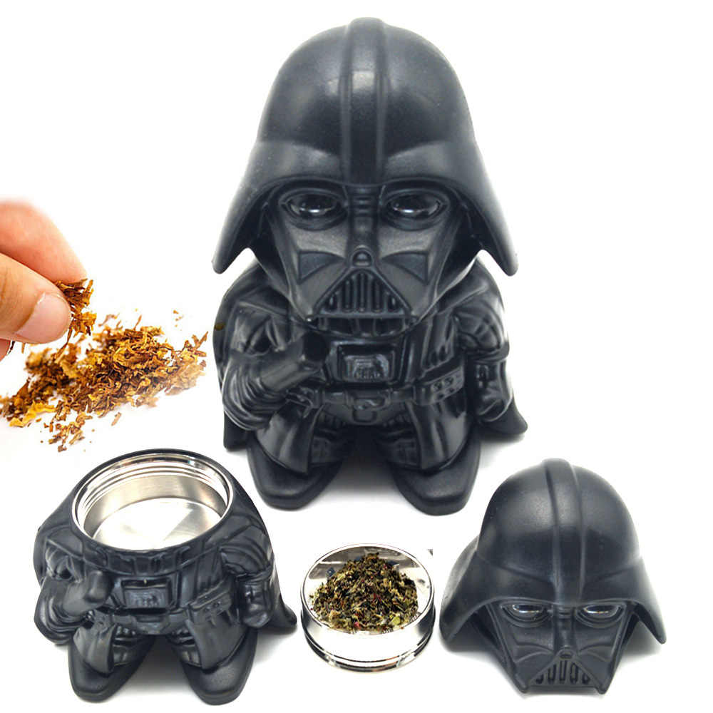 Star Wars Herb Tobacco Herb Grinder Weed Zinc Alloy Black Warrior Darth Vader Stormtrooper Toy Grinder Shisha Smoking Tools