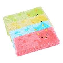 Urijk 25*50 см жаккард Вышивка кошка маленькое волокно мягкое полотенце мультфильм детское полотенце домашняя Ванна мини квадратное лицо руки детские полотенца