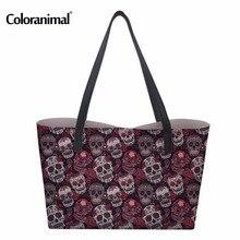 Coloranimal Trendy Sugar Skulls Handbags Pattern Woman