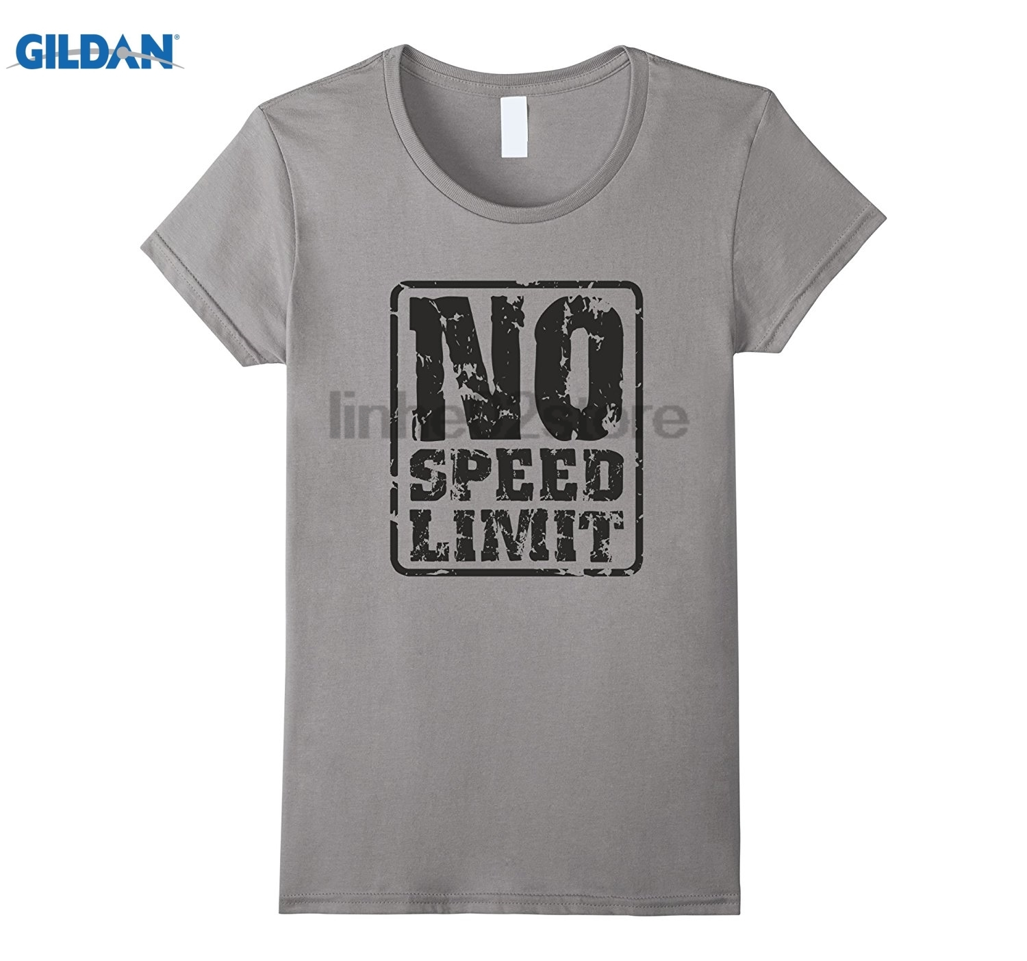 GILDAN No Speed Limit Track Field Great Gifts For Track Fan T-Shirt Womens T-shirt