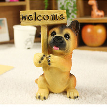 Dog artificial craft doggy welcome car styling room home garden party decoration signs,Christmas gift puppy figure,pet poodle
