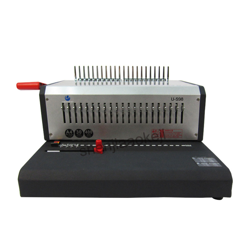 Electric binding machine U S98 comb type binding machine rubber ring clip bar dual use binding