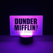 Cool Baby Led Nightlight The Office Dunder Mifflin Night light for Childrens Bedroom Decoration Novetly Gift Kid Lamp