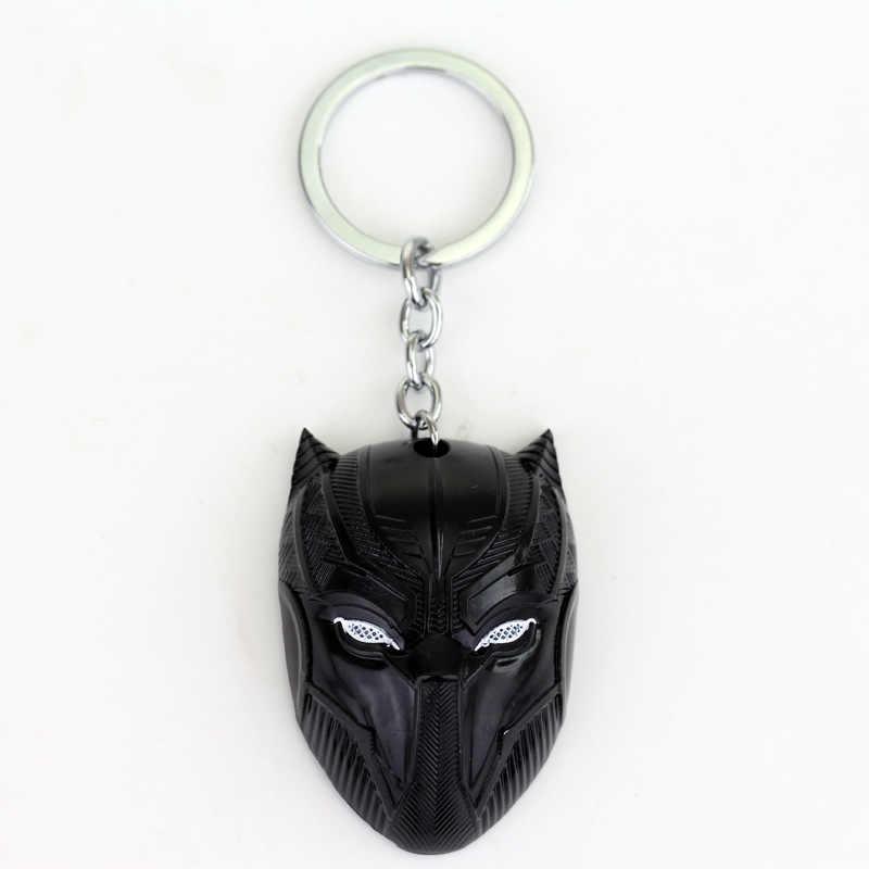 Vengadores Capitán América guerra Civil negro llavero Pantera colgantes de figuras llavero titular Souvenirs Copslay accesorios regalo