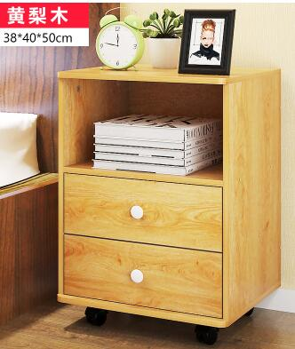38*40*50CM Bedside Table Coffee Tables Bedroom Storage Cabinet Fashion Nightstand With Wheels zen s bamboo nightstand miti function storage drawer cabinet bed side table living bedroom funiture
