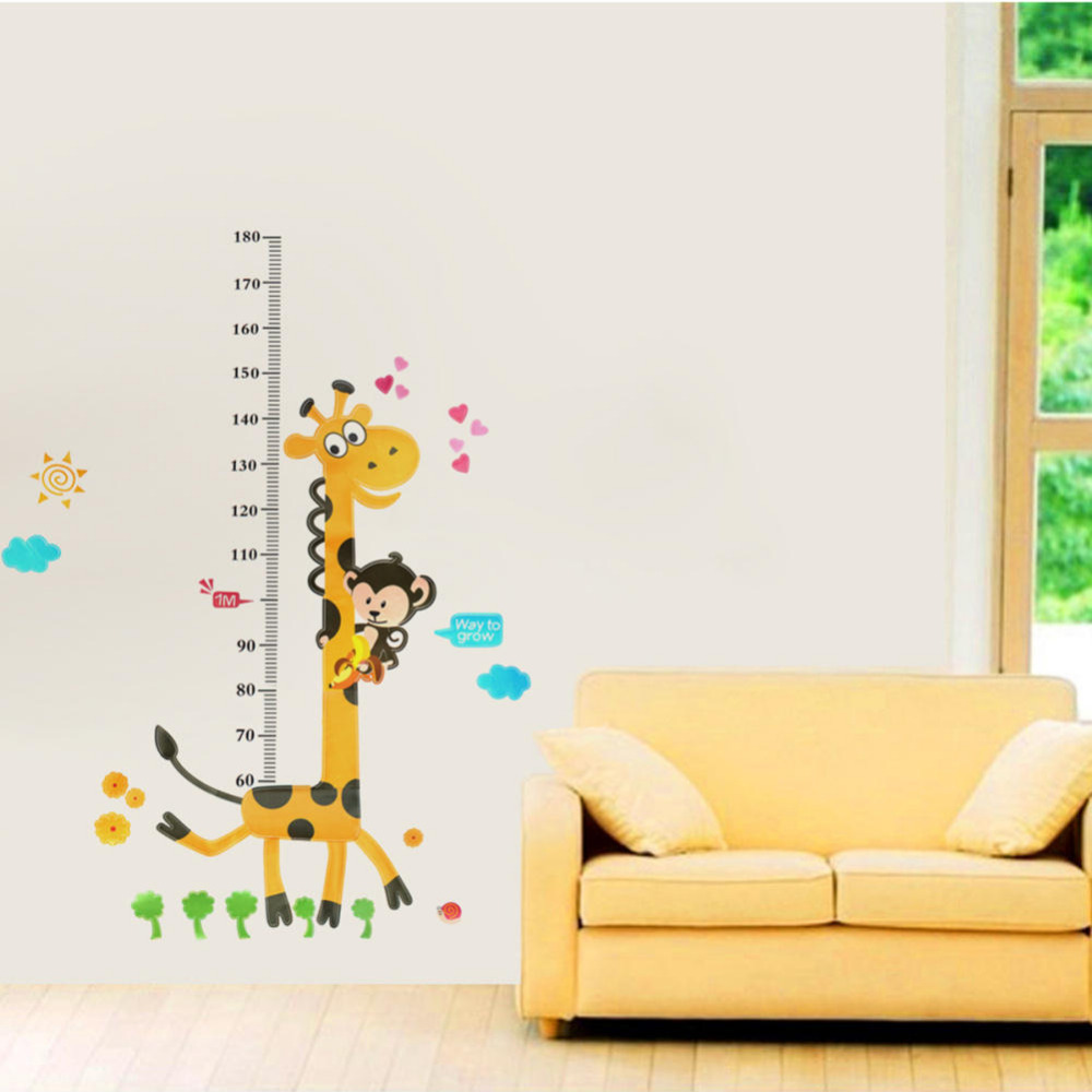 Children kid height measurement growth chart wall sticker cartoon children kid height measurement growth chart wall sticker cartoon giraffe animal decals mural art home kids room diy decor in wall stickers from home nvjuhfo Image collections