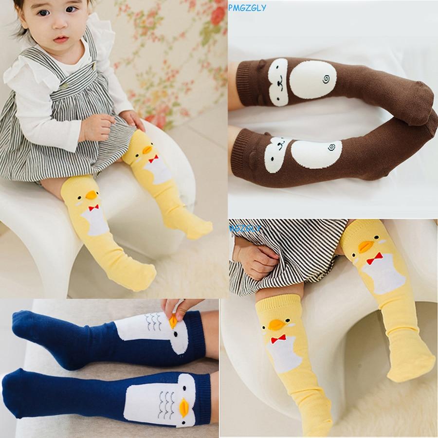 Boy sockor knä höga strumpor för barn bomull godis för nyfödda strumpor för flickor antislipning Baby spädbarn barn Long Socks Cartoon