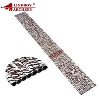 Linkboy Archery Pure Carbon Arrow Shafts Zebra Skin 32 Sp400 ID6.2mm Compound Recurve Bow Hunting DIY Slingshot