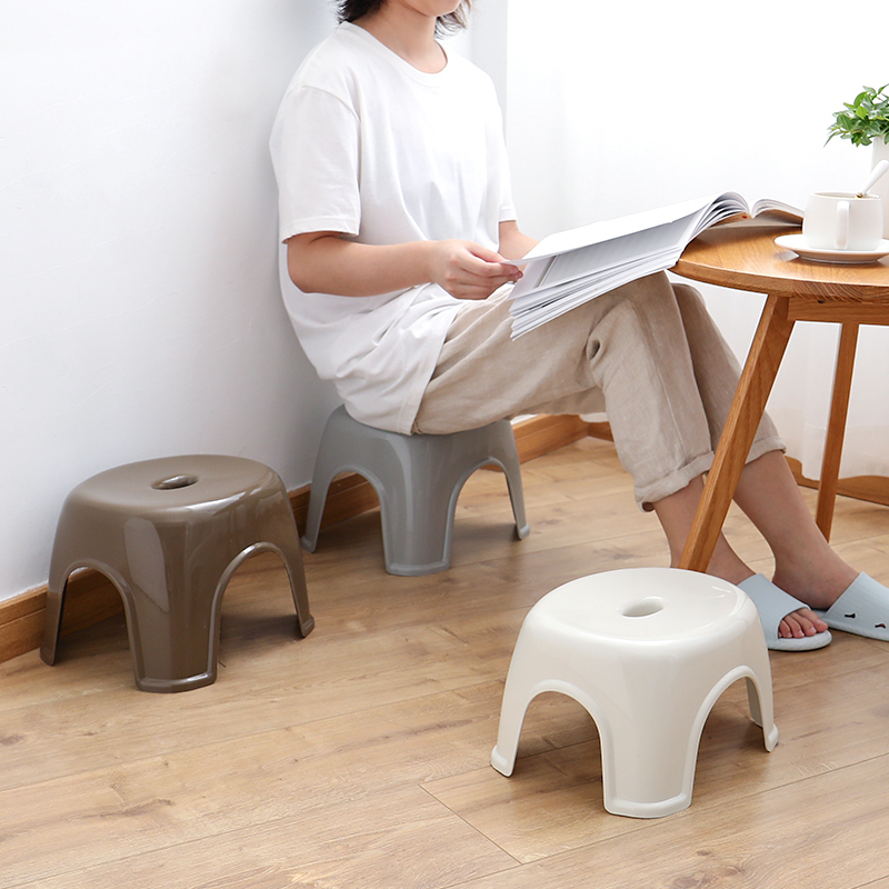 Children Chairs Household Plastic Small Bench Bathroom Stool Thick Small Plastic Stool Kindergarten Small Square Stool Fashion Modern Minimalist Up-To-Date Styling Furniture