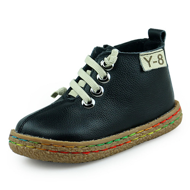 Luxury Baby Boys Leather Shoes Lace up Kids Casual Shoes Genuine Leather Children Footwear First Walkers
