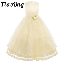 Ivory/White Pageant Formal Flower Girl Dresses Long For Weddings Children Infant Party Prom Ball Gown First Communion Dresses